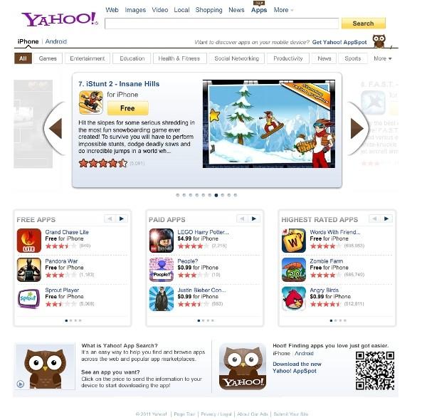 Yahoo-App-Search-Homepage